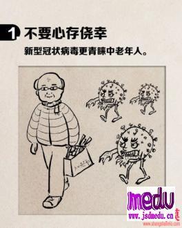 中老年人如何预防新冠病毒肺炎新型冠状病毒?