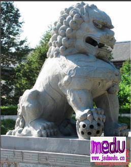 北大图书馆门口石狮子之被阉割生殖器