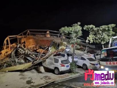 泉州市鲤城区常泰街道南环路欣佳酒店楼体坍塌,天灾是人祸感应的!