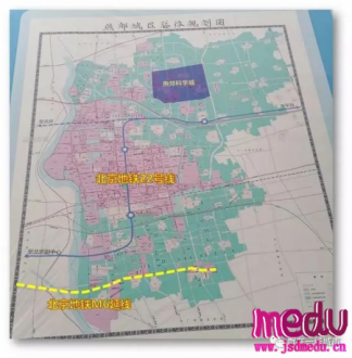 燕郊规划图曝光,平谷线、6号线2条地铁南北穿城而过……